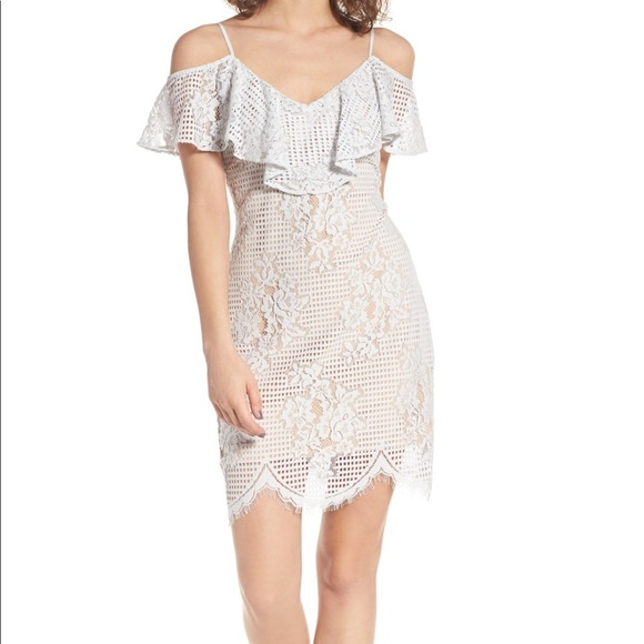 1e401dd872b NWT WAYF Pale Blue lace mini dress
